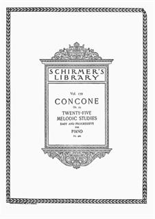 Двадцать пять лёгких и мелодических этюдов, Op.24: Для одного исполнителя by Джузеппе Конконе
