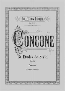 Fifteen Etudes de Style, Op.31: Fifteen Etudes de Style by Джузеппе Конконе