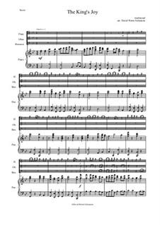 The King's Joy: For wind trio and piano by folklore, Дэвид Соломонс