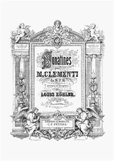 12 Sonatinas, Op.36, 37, 38: 12 Sonatinas by Муцио Клементи