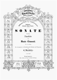 Три сонаты, Op.40: Соната No.1 by Муцио Клементи