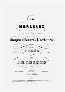 24 Morceaux choisis dans les Quators et Quintettes de Haydn, Mozart et Beethoven (Vol.1): 24 Morceaux choisis dans les Quators et Quintettes de Haydn, Mozart et Beethoven (Vol.1) by Йозеф Гайдн