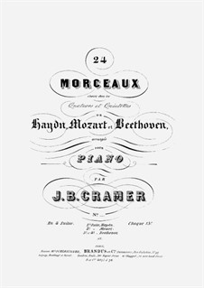 24 Morceaux choisis dans les Quators et Quintettes de Haydn, Mozart et Beethoven: Volume 3 by Людвиг ван Бетховен