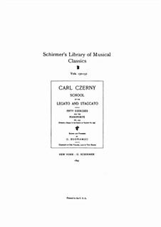 Школа легато и стаккато, Op.335: Для фортепиано by Карл Черни