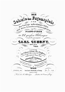 Die Schule des Fugenspiel, Op.400: Heft I by Карл Черни