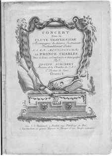 Концерт ре мажор для флейты, двух гобоев, двух валторн и струнных, Op.1: Концерт ре мажор для флейты, двух гобоев, двух валторн и струнных by Йозеф Шуберт