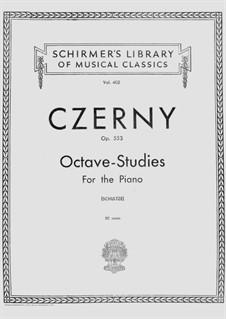 Шесть октавных этюдов, Op.553: Для фортепиано by Карл Черни