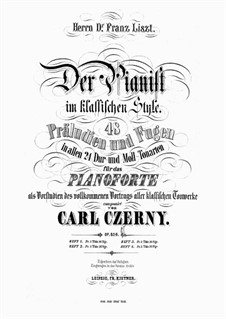 Der Pianist im klassischen Style, Op.856: Сборник by Карл Черни