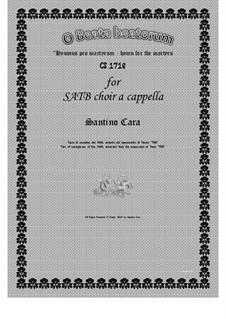 O beata beatorum - Hymn for SATB choir a cappella, CS1718: O beata beatorum - Hymn for SATB choir a cappella by Santino Cara