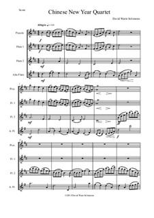 Chinese New Year Celebration: Для квартета флейт by Дэвид Соломонс