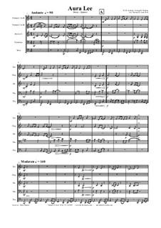 Aura Lee - Love me tender : Для квинтета медных духовых by folklore