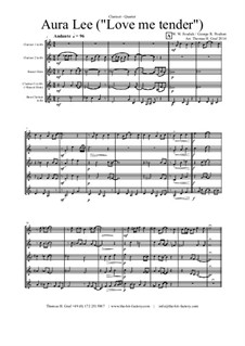 Aura Lee - Love me tender : For clarinet quartet by folklore