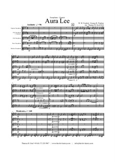 Aura Lee - Love me tender : For saxophone quartet by folklore