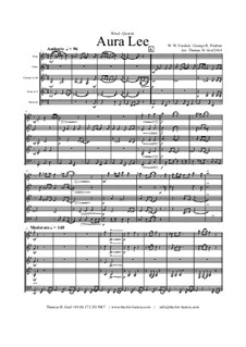 Aura Lee - Love me tender : For wind quintet by folklore