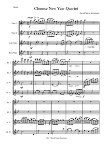 Chinese New Year Celebration: For flute quartet (2 flutes, alto flute and bass flute) by Дэвид Соломонс