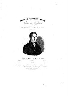 Концертная соната для арфы (или фортепиано) и скрипки (или виолончели), Op.113: Партии by Луи Шпор
