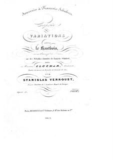 Каприс. Вариации на темы Шуберта, Op.15: Каприс. Вариации на темы Шуберта by Станислас Верру
