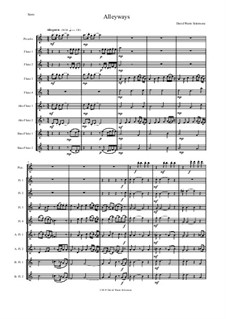 Alleyways (or Rollicking Along): For flute choir by Дэвид Соломонс
