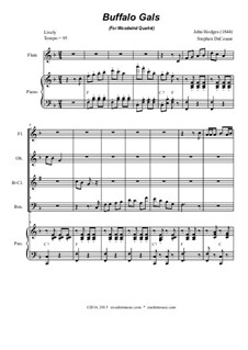 Buffalo Gals: For woodwind quartet by John Hodges