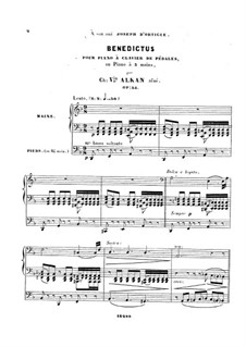 Benedictus, Op.54: Benedictus by Шарль Валантен Алькан