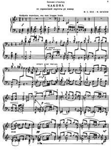 Партита для скрипки No.2 ре минор, BWV 1004: Чакона. Переложение для фортепиано by Иоганн Себастьян Бах