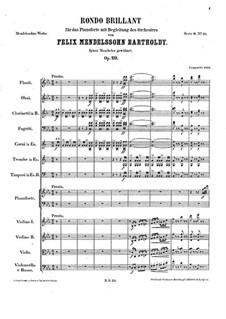 Блестящее рондо, Op.29: Партитура by Феликс Мендельсон-Бартольди