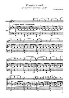 Концерт для скрипки с оркестром ми минор, Op.64: Версия для скрипки и фортепиано by Феликс Мендельсон-Бартольди