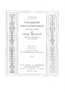 Венгерскиe цыганские напевы, TH 193: Для двух фортепиано в 4 руки by Софи Ментер