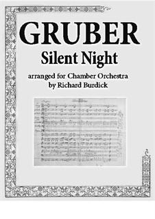 Тихая ночь (ноты для скачивания): For chamber orchestra by Франц Ксавьер Грубер