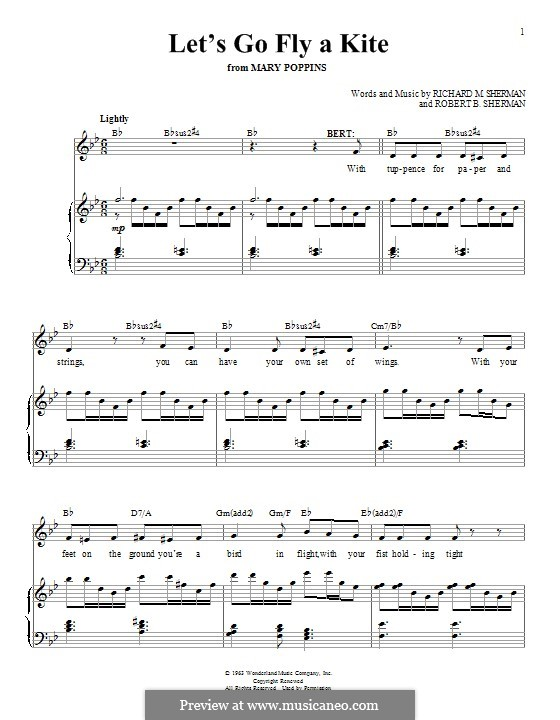Let's Go Fly a Kite: Для голоса и фортепиано by Richard M. Sherman, Robert B. Sherman