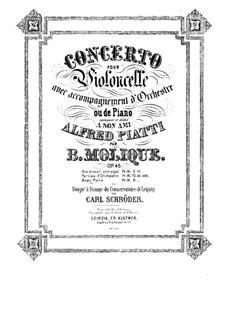Концерт для виолончели с оркестром ре мажор, Op.45: Переложение для виолончели и фортепиано – сольная партия by Бернхард Молик