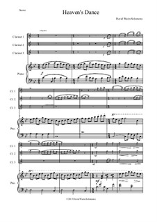 Heaven's Dance: For three clarinets and piano by Дэвид Соломонс