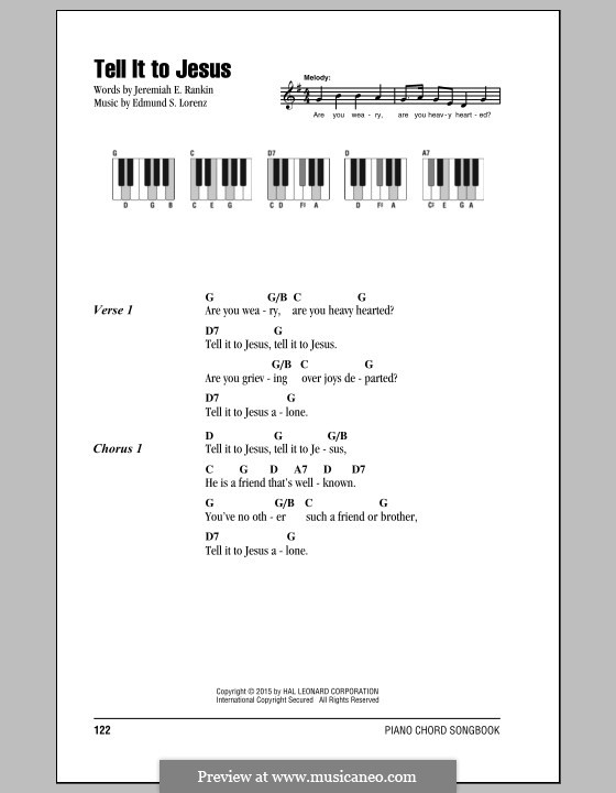Tell it to Jesus: Текст, аккорды by Edmund Simon Lorenz