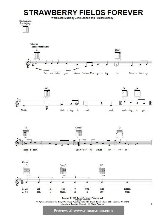 Strawberry Fields Forever (The Beatles): Для гитары by John Lennon, Paul McCartney