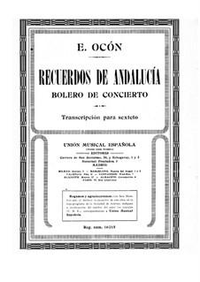 Recuerdos de Andalucía: Партия фортепиано by Эдуардо Окон