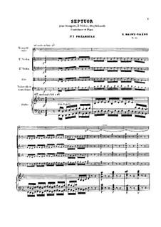 Септет ми-бемоль мажор, Op.65: Партитура by Камиль Сен-Санс