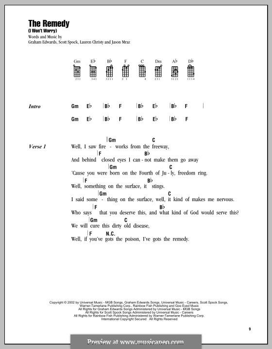 The Remedy (I Won't Worry): Для укулеле by Graham Edwards, Lauren Christy, Scott Spock