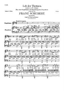 Похвала слезам, D.711 Op.13 No.2: Для высокого голоса и фортепиано by Франц Шуберт