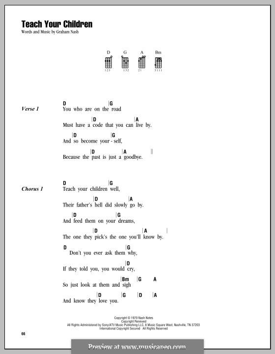 Teach Your Children (Crosby, Stills & Nash): Для укулеле by Graham Nash