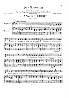 Крестовый поход, D.932: Для голоса и фортепиано by Франц Шуберт