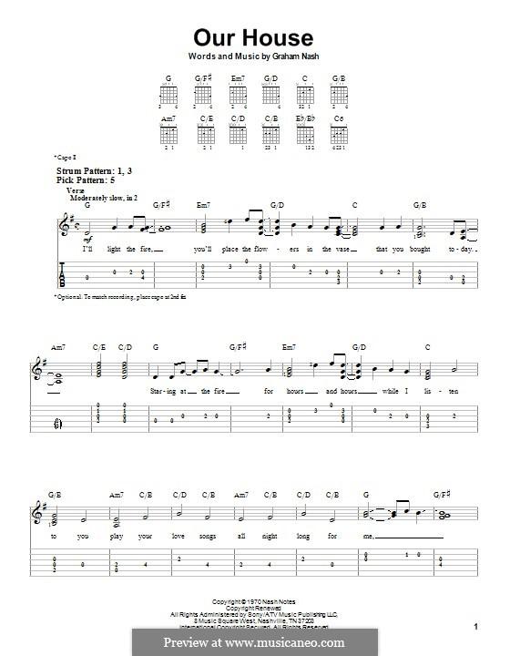 Our House (Crosby, Stills & Nash): Гитарная табулатура by Graham Nash