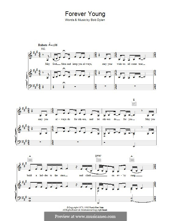 Forever Young I: Для голоса и фортепиано (или гитары) by Bob Dylan