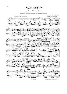 Фантазия для фортепиано в четыре руки фа минор, D.940 Op.103: Клавир by Франц Шуберт