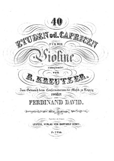Сорок два этюда или каприса: Для скрипки by Родольф Крейцер