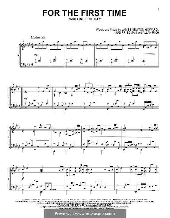 For the First Time (Kenny Loggins): Для фортепиано by Allan Rich, James Newton Howard, Jud Friedman