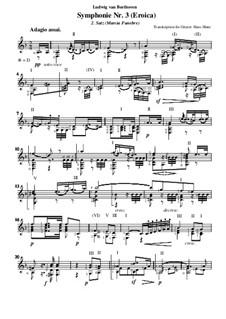 Симфония No.3 'Героическая', Op.55: Movement II, for guitar by Людвиг ван Бетховен