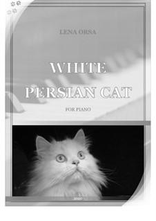Белый персидский кот: Белый персидский кот by Lena Orsa
