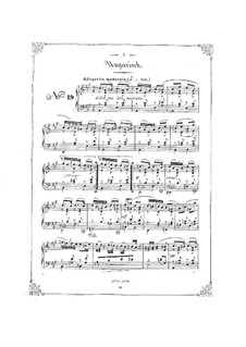 Bunte Reihe, Op.30: No.19-24 для фортепиано by Фердинанд Давид