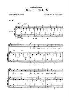 Jour de noces: Для среднего голоса и фортепиано by Жюль Массне