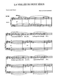 La veillée du petit Jésus: Для среднего голоса и фортепиано by Жюль Массне